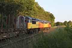 Um par de locomotivas da classe 56 Fotografia de Stock Royalty Free