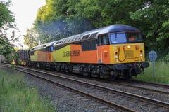 Um par de locomotivas da classe 56 Foto de Stock Royalty Free