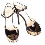 Um par de mulheres elegantes descalças Imagem de Stock Royalty Free