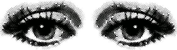 Um par de olhos Fotos de Stock