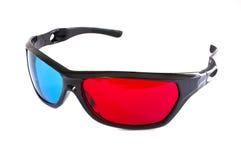Um par dos vidros 3D vermelho-cianos Foto de Stock Royalty Free