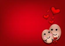 Um par feliz no amor Imagens de Stock Royalty Free