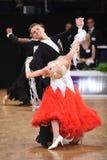 Um par não identificado da dança em uma dança levanta durante o padrão do grand slam no campeonato aberto do alemão Imagem de Stock Royalty Free