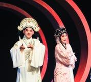 Um par novo na ópera de beijing fotografia de stock royalty free
