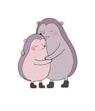 Um par ouriços bonitos dos desenhos animados Animais engraçados Imagem de Stock Royalty Free