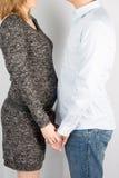 Um par que espera um bebê imagem de stock