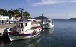 Um paraíso bonito em Grécia Skiathos foto de stock royalty free