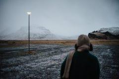 Um parque de estacionamento em Islândia Imagens de Stock