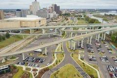 Um parque de estacionamento enorme Imagens de Stock Royalty Free