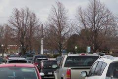 Um parque de estacionamento nos faturamentos Montana imagem de stock