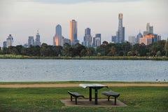 Um parque em Melbourne, Austrália Fotografia de Stock Royalty Free