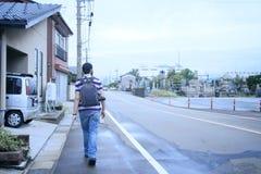 Um passageiro em um lado do país de Japão fotografia de stock royalty free