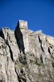 Um passeio em a montanha para o Preikestolen Fotografia de Stock Royalty Free