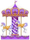 Um passeio roxo do carrossel ilustração royalty free