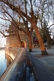 Um pavilhão chinês no parque de Beihai, Pequim Fotografia de Stock
