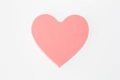nota Coração-dada forma Fotos de Stock Royalty Free