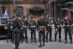 Um pelotão de fuzileiros navais Imagem de Stock