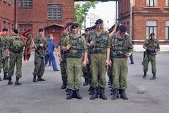 Um pelotão de fuzileiros navais Fotos de Stock