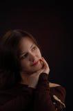 Um pensamento da mulher fotografia de stock royalty free