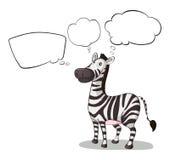 Um pensamento da zebra Imagens de Stock