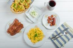 Um pequeno almoço entusiasta Fotos de Stock