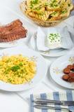 Um pequeno almoço entusiasta Imagens de Stock Royalty Free