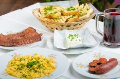 Um pequeno almoço entusiasta Imagens de Stock