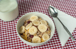 Um pequeno almoço saudável Fotografia de Stock