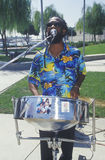Um percussionist do African-American Foto de Stock Royalty Free