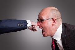 Um perfurador no nariz fotos de stock