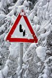 Um perigo dos verscheites do tráfego Fotos de Stock