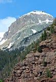 Um pico de montanha nevado de San Juan Foto de Stock Royalty Free