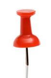 Um pino de desenho vermelho Fotografia de Stock Royalty Free
