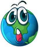 Um planeta com uma cara Fotografia de Stock Royalty Free