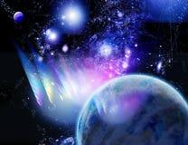 Um planeta está em um refulgency Imagens de Stock Royalty Free