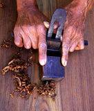 Um plano de alisamento do carpinteiro (barbeador) Fotos de Stock