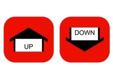um ponteiro ao sentido: para cima e para baixo ilustração stock