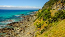 Um ponto surfando favorito na Costa do Pacífico australiana em Apoll imagens de stock royalty free