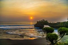 Um por do sol bonito Foto de Stock