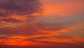 Um por do sol bonito Fotos de Stock
