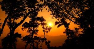 Um por do sol bonito imagens de stock royalty free