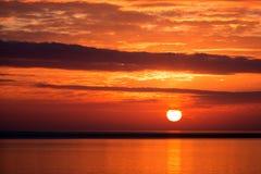 Por do sol em Islândia Imagens de Stock Royalty Free