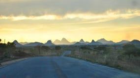 Um por do sol inesquecível em Moçambique do norte Imagens de Stock Royalty Free