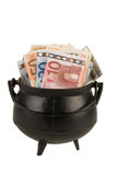 Um potenciômetro de dinheiro Fotos de Stock