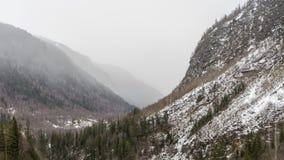 Um pouco da neve em Noruega foto de stock royalty free