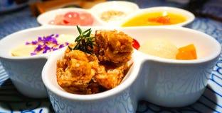 Um prato bonito e delicioso colorido da sobremesa Foto de Stock Royalty Free