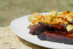 Um prato da carne Foto de Stock
