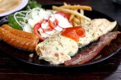 Um prato da omeleta Fotografia de Stock