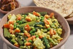 Um prato dal é uma combinação de trigo, de lentilhas e de especiarias frescas Imagens de Stock