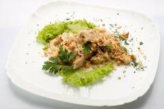 Um prato das porcas Imagem de Stock Royalty Free